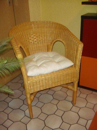 Sessel NEU in der Farbe honig mit Polster Rattansessel