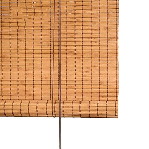 HH- Bambusrollo Bambus Roll Up Jalousie Sonnenschutz, Rollos Mit Schnur, Haushaltslift Vorhang for Balkon/Terrasse/Küche (Size : 120×210cm) - Küche Terrasse Vorhänge