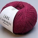 Lang Yarns - CASHMERE PREMIUM - Farbe 0163 Dunkelrot - 100% Kaschmirwolle (25 Gramm – 1 Knäuel)