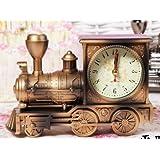 Ljinu Modelo De Locomotora, Calendario Reloj Alarma, Creatividad, Personalidad Del Estudiante, La Simplicidad Moderna, Cama, Dormitorio, Retro, Nostálgico, Estilo Europeo,Tren (Cobre)