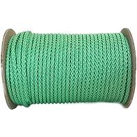 Cuerda de polipropileno, rollo de 50m de longitud y 5mm de grosor, en varios colores, cuerda trenzada, cordino, jarcia, cuerda de amarre, verde claro