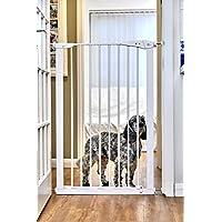 CALLOWESSE Barrera de Seguridad Extra-Hecha Para Niños & Mascotas 75-82cm x 110cm - A Presión (Blanca)