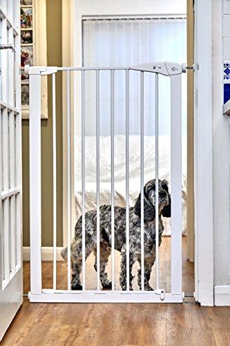 Lindam Kind & Pet Sicherheitsgitter 75 cm-82 cm Druck Passform Weiß