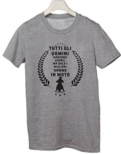 Tshirt tutti gli uomini nascono uguali ma solo i migliori vanno in moto - Tutte le taglie by tshirteria Grigio