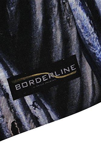 BORDERLINE - 100% Made in Italy - 2017 - Écharpe homme - METAL TWIST Bleu Foncé