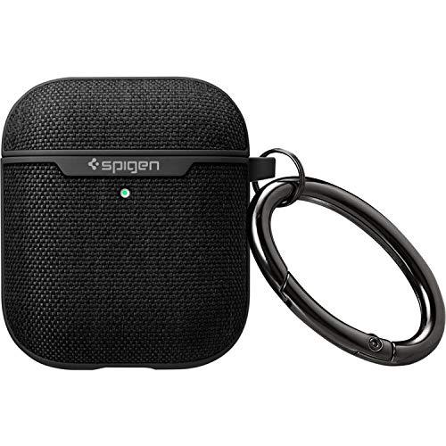 Spigen Urban Fit Entwickelt für Apple Airpods Case Cover für Airpods 1 & 2 [LED-Licht sichtbar] - Schwarz