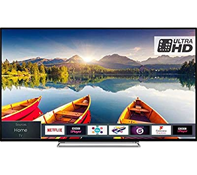TOSHIBA 50 inch Smart 4K Ultra HD HDR LED TV (Resolution: 3840 x 2160) with Freeview HD with Freeview Play and Built-in WiFi (Certified Refurbished)
