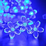 StillCool 23ft 50 LED Blossom Solar String Lights Decorative Gardens, Lawn, Patio, Christmas Trees, Weddings, Parties, Indoor and Outdoor Lights (Blue)