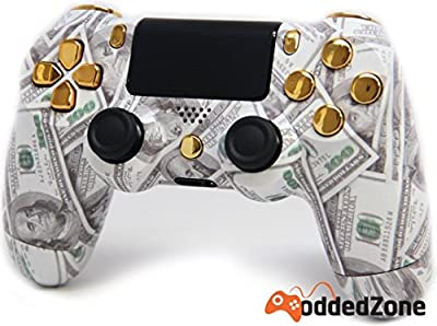 """Money Talks Gold"" PS4 Rapid Fire Modded Controller for COD Black Ops3, Infinity Warfare, AW, Destiny, Battlefield: Quick Scope, Drop Shot, Auto Run, Sniped Breath, Mimic, More"