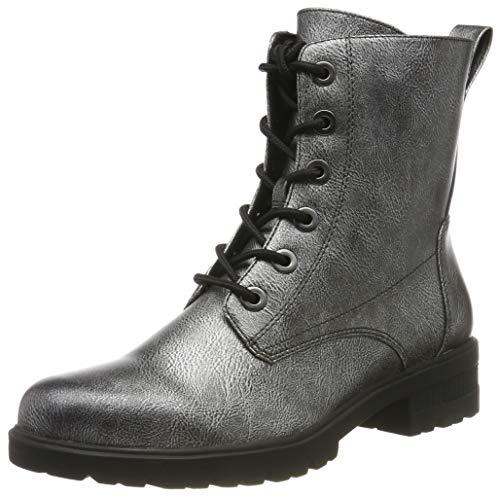 Tamaris Damen 1-1-25280-23 Combat Boots, Silber (Dark Pewter 990), 37 EU