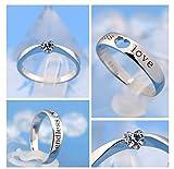 Girlz! Titanium Endless Love Silver Metal Wedding Couple Rings (2 Pieces - Men And Women)