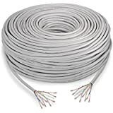 NanoCable 10.20.1704-FLEX - Cable de red Ethernet RJ45 LSZH Cat.5e UTP, flexible, AWG24, Libre de alogenos, Gris, 305mts
