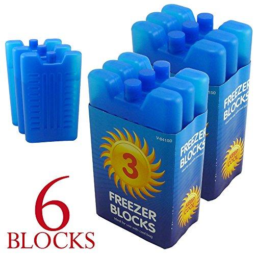 3pk-Gefrierschrank-Block--hlt-Ihren-Lunch-oder-Getrnke-khl-an-heien-Tagen-6-Stck