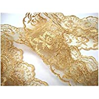 Dúojincai Floral Lace Trims DIY Craft Costura Aplique (oro)