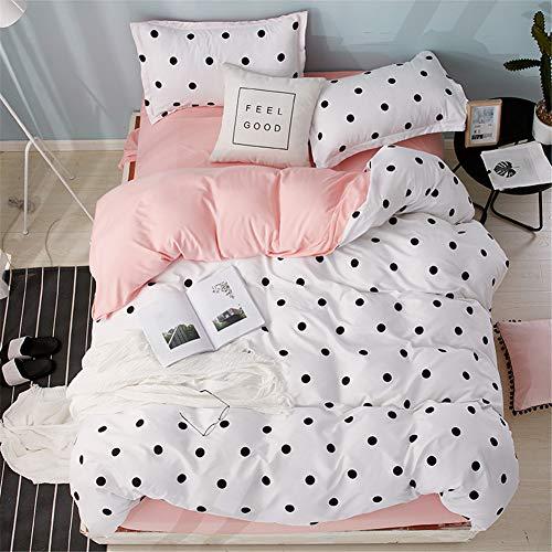 Morbuy Bettwäsche Bettbezug Set, 4 Teilig Bettbezug Bettwäsche 100% Mikrofaser Gemütlich Bettbezug -Set,1 Bettbezug+1 Spannbettlaken +2 Kissenbezug