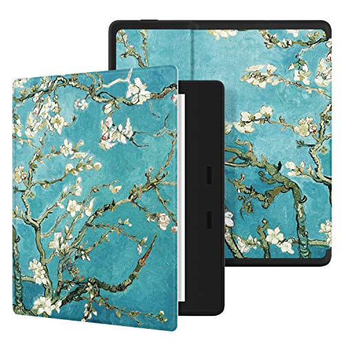 Ayotu Colourful Case 7-Zoll-Kindle Oasis (10. Generation, Release 2019 & 9. Generation, Release 2017) PU-Leder Smart Waterproof Cover, Auto Schlaf/Wach Funktion, KO The Apricot Flower - Apricot Flower