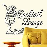 """Wandtattoo-Loft Cocktail Lounge (Schriftzug)"""" - Wandtattoo/54 Farben/3 Größen/safrangelb/80 cm (Hoch) x 105 cm (Breit)"""