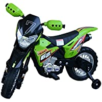 HOMCOM Children Toy Ride On Car Kids Motorbike Electric Powered By 6V Battery Safe&Stable w/ 4-Wheels Operatered Green/Red