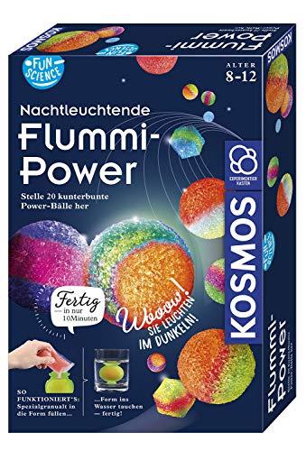 KOSMOS 654108 Fun Science - Nachtleuchtende Flummi-Power, Stelle 20 kunterbunte Power-Bälle her, Experimentierset für Einsteiger
