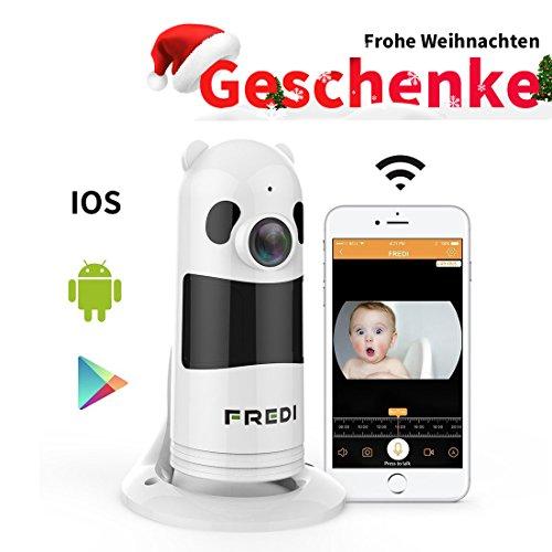 1080P HD Wlan IP Kamera Sicherheitskamera IP Cam Überwachungskamera FREDI Wlan Netzwerk Kamera Kabellos Panorama Panda Videoüberwachung mit IR Nachtsicht /Bewegungsmelder /Baby monitor für Haus/Baby Überwachung Mini-spion-kamera Wireless Für Autos