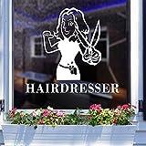 Hwhz 48X60 cm Hair Salon Sticker Beauty Salon Hairdresser Decal Haircut Posters Vinyl Wall Art Decals Decor Decoration Mural B