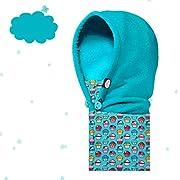 AONIJIE Multifunzione Bambini(3-12 anni) Outdoor Inverno Antivento Caldo  Maschera, passamontagna in pile hat sciarpa ricopre i cappelli (Azzurro)