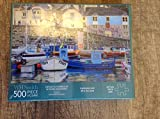 500 Piece Jigsaw Puzzle Fishing Village Newlyn Harbour Seaside Town and Fishing Port in South-West Cornwall from WH Smith by Valerie Mainwaring 49 x 34.3cm