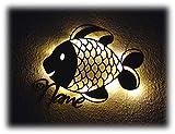Geschenke zur Kommunion Maritim mit Name Zubehör Fisch Lampe Mädchen Frau Frauen Junge Jungs