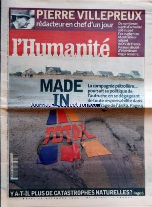 HUMANITE (L') [No 17221] du 28/12/1999