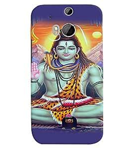 Fuson Premium Om Namo Rudraya Printed Hard Plastic Back Case Cover for HTC One M8