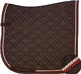 ESKADRON Brillant Schabracke choco, 2fach Kordel rot/creme, Form:Dressur