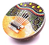 Karimba Kalimba Gitarre Piano für Daumen Kalimba Coco Instrument Musik Aboriginal ID blau