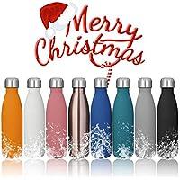 KING DO WAY 500ml Bouteille D'eau Isotherme Mug Flasque Réutilisable En Acier Inoxydable Pour Sport Camping Randonnée Water Bottle Surface En Caoutchouc