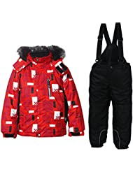 ICEPEAK–Rasmus Jr. Niños Traje de nieve–2teiler–Chaqueta de esquí Pantalones, color  - rojo, tamaño 18 meses (86 cm)