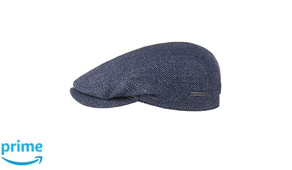 009a117147013f Stetson Mottled Blue Virgin Wool & Linen Traditional Summer Driver Flat Cap  Hat: Amazon.co.uk: Clothing