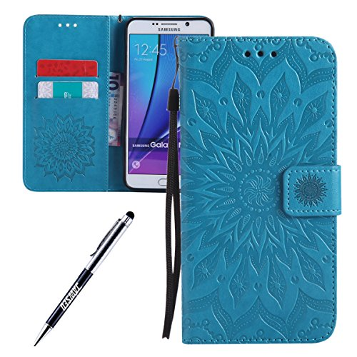 Galaxy-Note-5-Custodia-Galaxy-Note-5-Custodia-Portafoglio-Galaxy-Note-5-Custodia-Pelle-JAWSEU-3D-Goffratura-Ragazza-Gatto-Fiore-Diamante-Lusso-PU-Leather-Flip-Cover-Custodia-per-Samsung-Galaxy-Note-5-