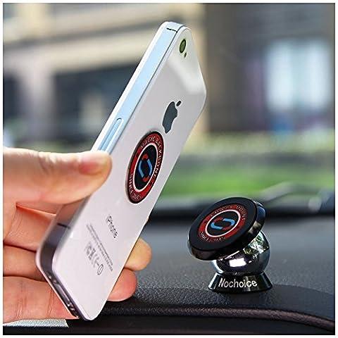 Nochoice® Support Magnétique Universel Voiture Support Téléphone Aimant 360 ° de rotation à Magnetic collantes pour iPhone plus 6s 5S 5 4S Samsung Galaxy S 6 5 4 3 Note 3 Nexus 7 BlackBerry