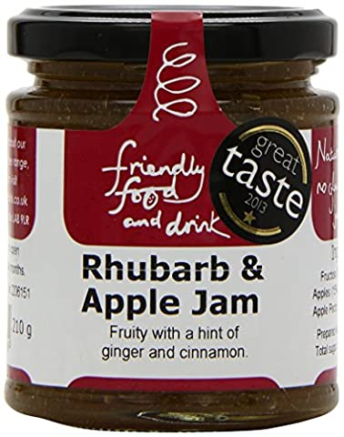 Friendly Food and Drink Rhubarb and Apple Jam 210 g (Pack of 2)