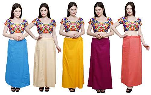 Pistaa combo of Women's Cotton Turquoise Blue, Light Beige, Mango Yellow, Magenta...