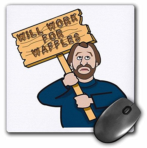 Funny Humorvolle Mann Guy mit einem unterzeichnet, Arbeit für Waffeln–Maus Pad, 8von 20,3cm (MP 117194_ 1)