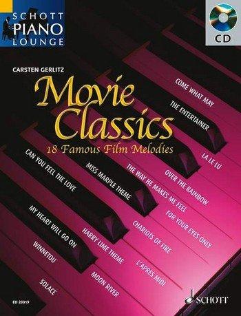 Preisvergleich Produktbild Schott Piano Lounge: MOVIE CLASSICS (+CD) mit Bleistift -- 18 bekannte Filmmelodien u.a. aus DER DRITTE MANN und DR. SCHIWAGO in klangvollen, mittelschweren Arrangements für Klavier von Carsten Gerlitz (Noten / sheet music)