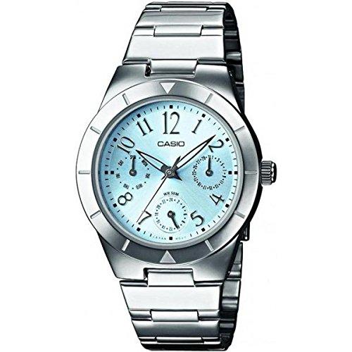 Casio Damen Analog Quarz mit Edelstahl Armbanduhr LTP2069D2A2VEF (G-shock Uhren Aus Edelstahl)