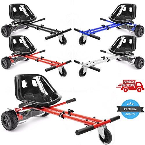 Ballino Hoverkart / Elektro-Scooter, Model 2018, verstellbar, für Hoverboard-Zubehör mit den Größen 6,5 /8/ 10 Zoll (16,51 / 20,32 / 25,4cm), für Erwachsene und Kinder