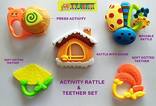 TOY STATION - HMC - ACTIVITY RATTLES & TEETHER SET ( 5 PC )