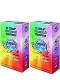 Skins con sabor Condones-Pack de 12(Retail Caja Sellada unidades)