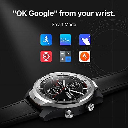 TicWatch Pro Bluetooth Smart Watch, Mehrschichtiges Display, Herzfrequenz und NFC-Zahlungen basierend auf Google Wear OS, kompatibel mit iPhone/Samsung/Huawei/LG und Anderen Android-Telefonen - 3