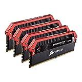Corsair Dominator Platinum - Módulo de Memoria XMP 2.0 de Alto Rendimiento de 16 GB (4 x 4 GB, DDR4, 3200 MHz, C16, edición ROG)