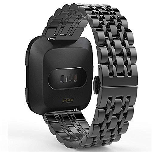 LCLrute Premium Metall Armband Armband Für Fitbit Versa Smart Watch Uhr Strap Uhr Milanese Edelstahl,Universal Ersatz Uhr Band Stahl Lite Mesh Metall strap