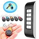 Schlüsselfinder, GLISTENY 5 in 1 Wireless Key Finder, elektronische drahtlose Sachenfinder Sender...