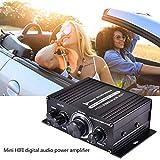 Amplificatore per auto mini 12V, amplificatore audio stereo digitale Hi-Fi Radio per bassi alti Amplificatore per auto Canale digitale per moto casa barca